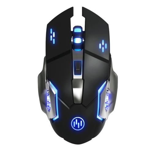 TENMOS T85 Rechargeable Wireless Gaming Mouse, 2.4G USB LED