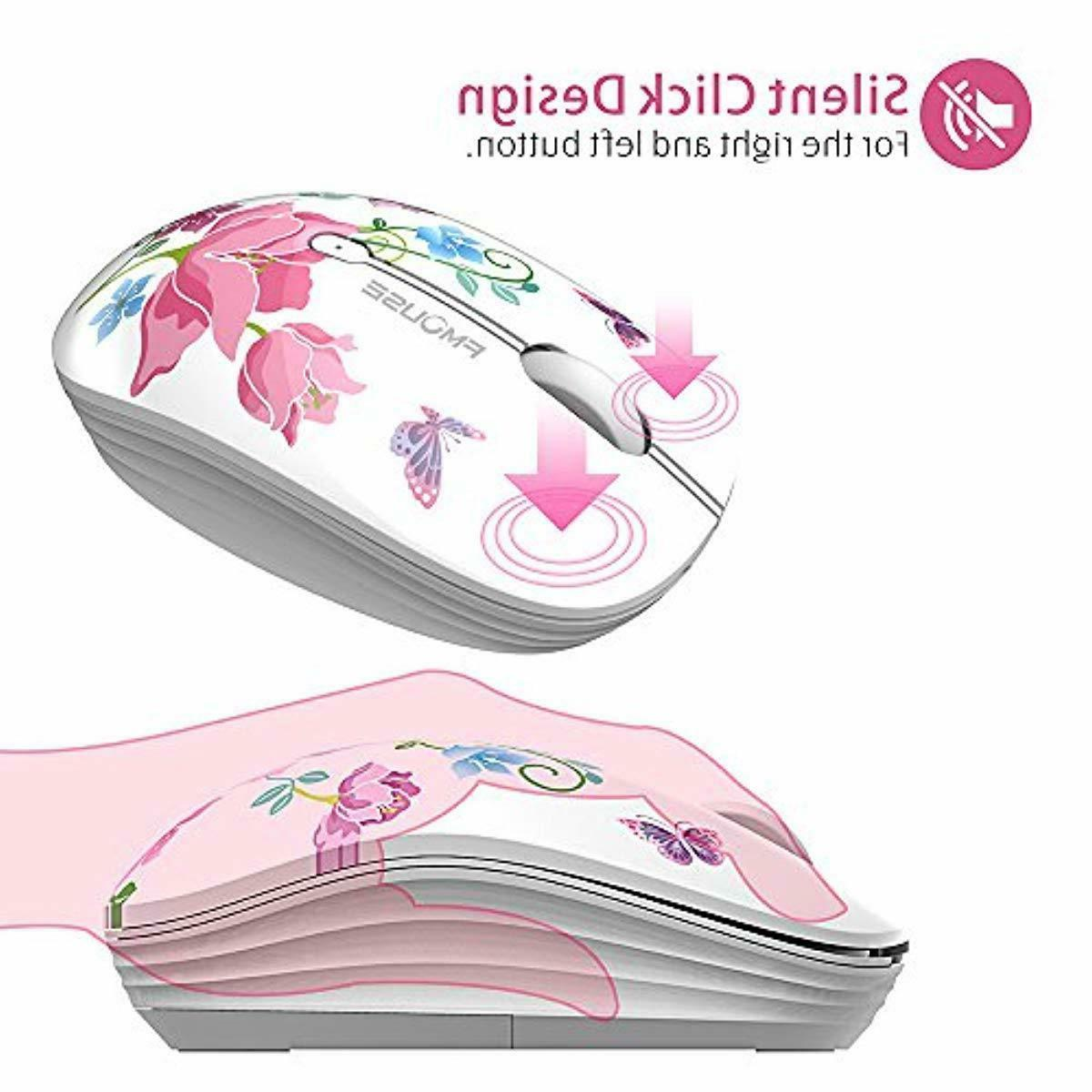 TENMOS M101 Wireless Mouse Cute Silent Computer Mice with US