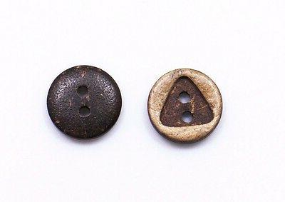 triangle cut out coconut shell buttons 11mm