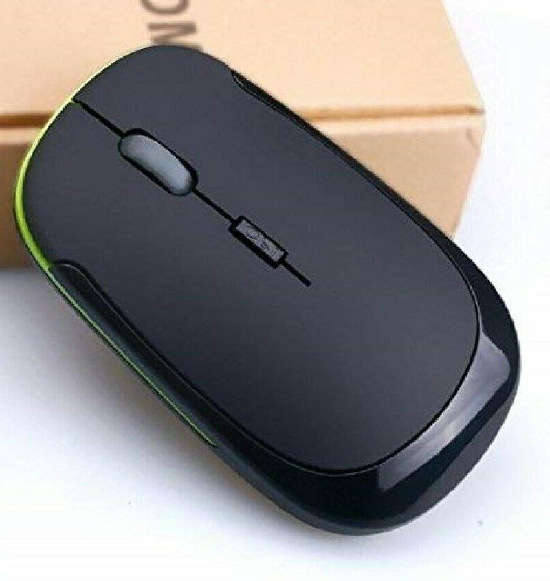 Ultra-Slim Wireless Mouse Optical PC Black