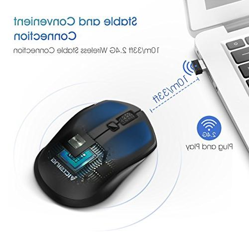 VicTsing Wireless Mouse, 2.4G USB Computer Cordless DPI Levels, Deskbtop,
