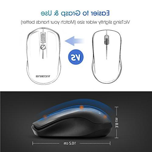 VicTsing Wireless Mouse, USB for ON-Off DPI Deskbtop,