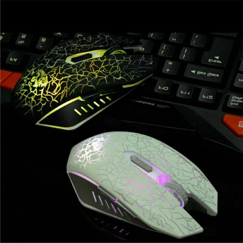 VEGCOO C10 Wireless Mouse Rechargeable Mice 7 Colors L