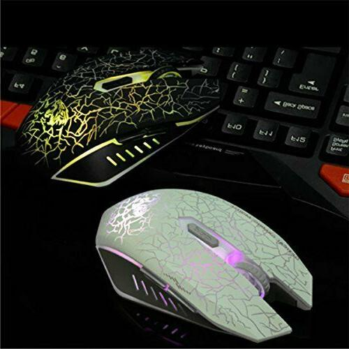 VEGCOO Wireless Gaming Mouse Rechargeable Mice with