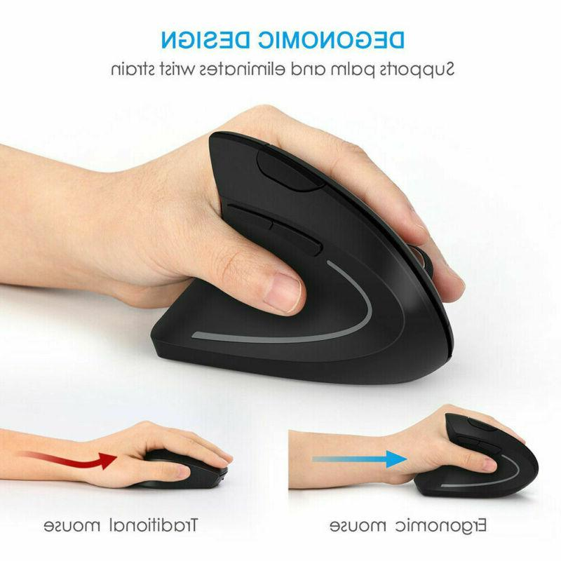 Vertical Wireless Optical Mouse DPI