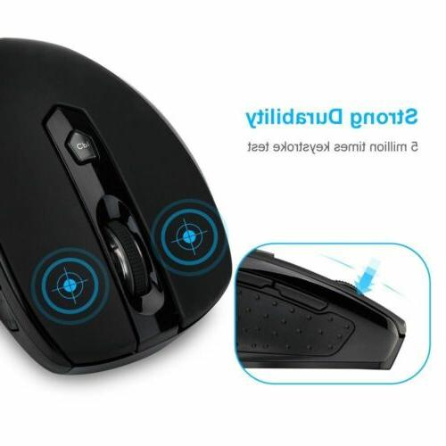 VicTsing 2.4G Ergonomic Button 2400DPI For PC Laptop Win10