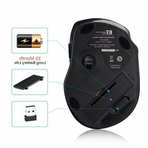 VicTsing Wireless Mouse Optical Mice USB Receiver for Laptop MAC