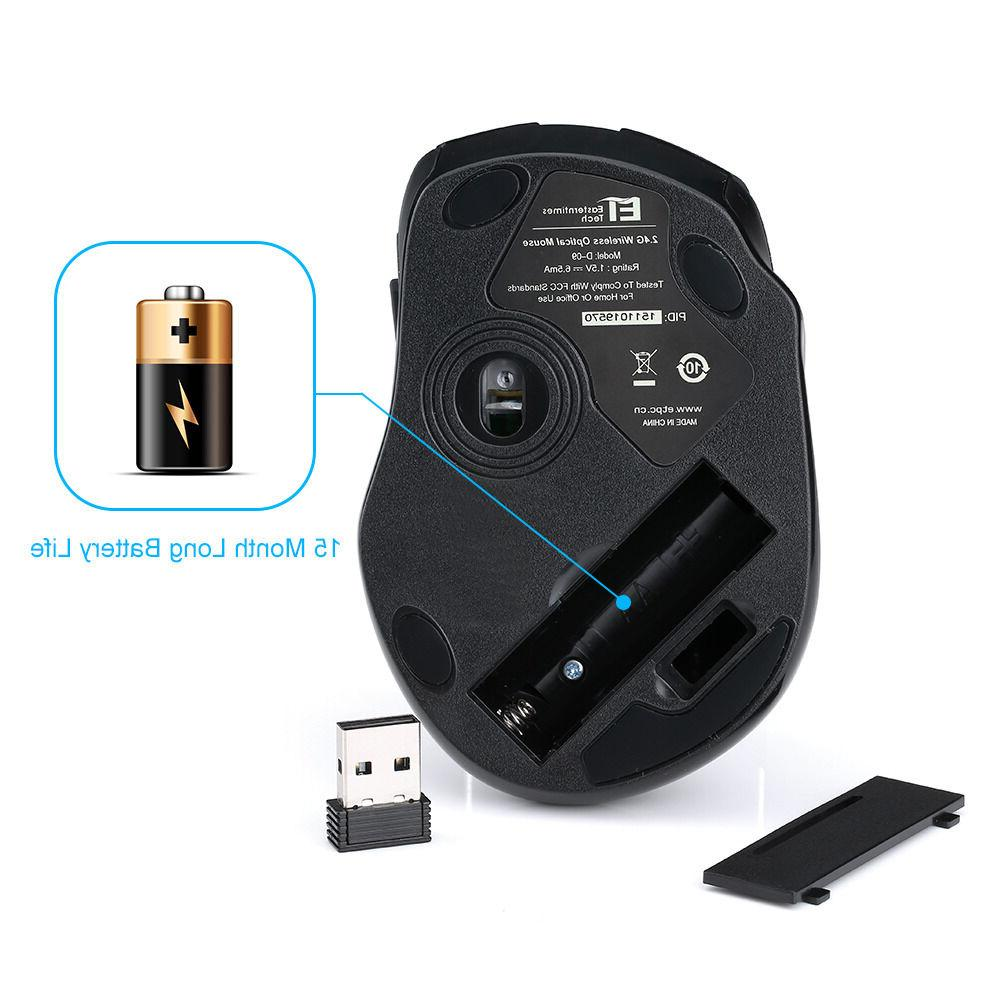 VicTsing Mouse +5 CPI Levels+6 Buttons +USB Receiver