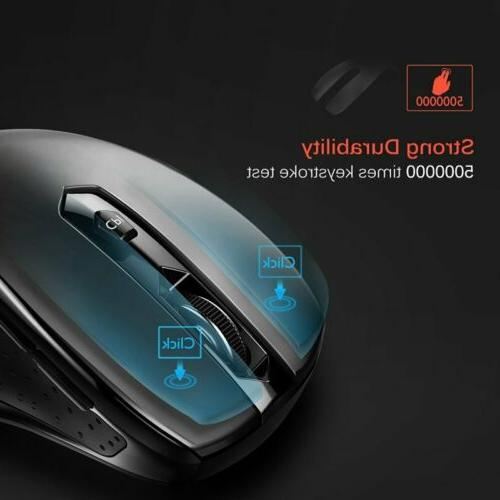 VicTsing MM057 2.4G Mouse USB Receiver for PC Laptop MAC