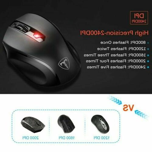 VicTsing Wireless Optical Mouse 6 Buttons