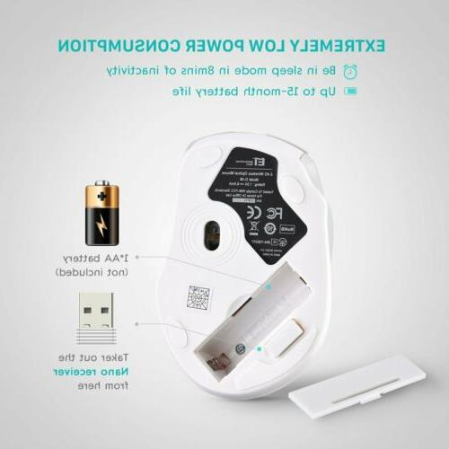 VicTsing 2.4G Wireless Gaming Mouse Mice USB