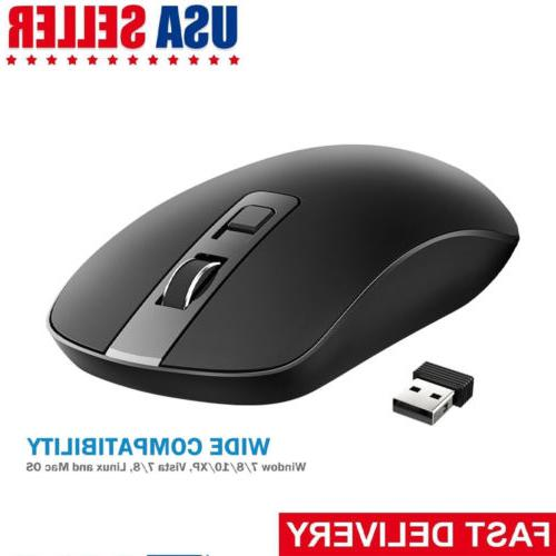 victsing 4 button slim silent wireless mouse