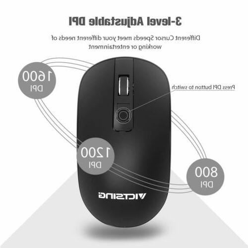 VicTsing 2.4G Mouse USB C For PC Laptop