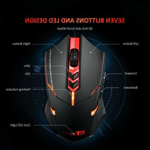 Victsing Wireless Gaming LED Backlit 5