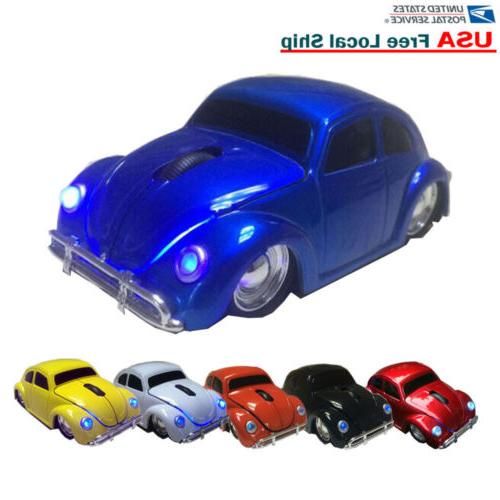 vw classic beetle car wireless mouse optical