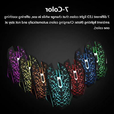 Wireless USB Gaming Mouse 7 LED Backlit PC