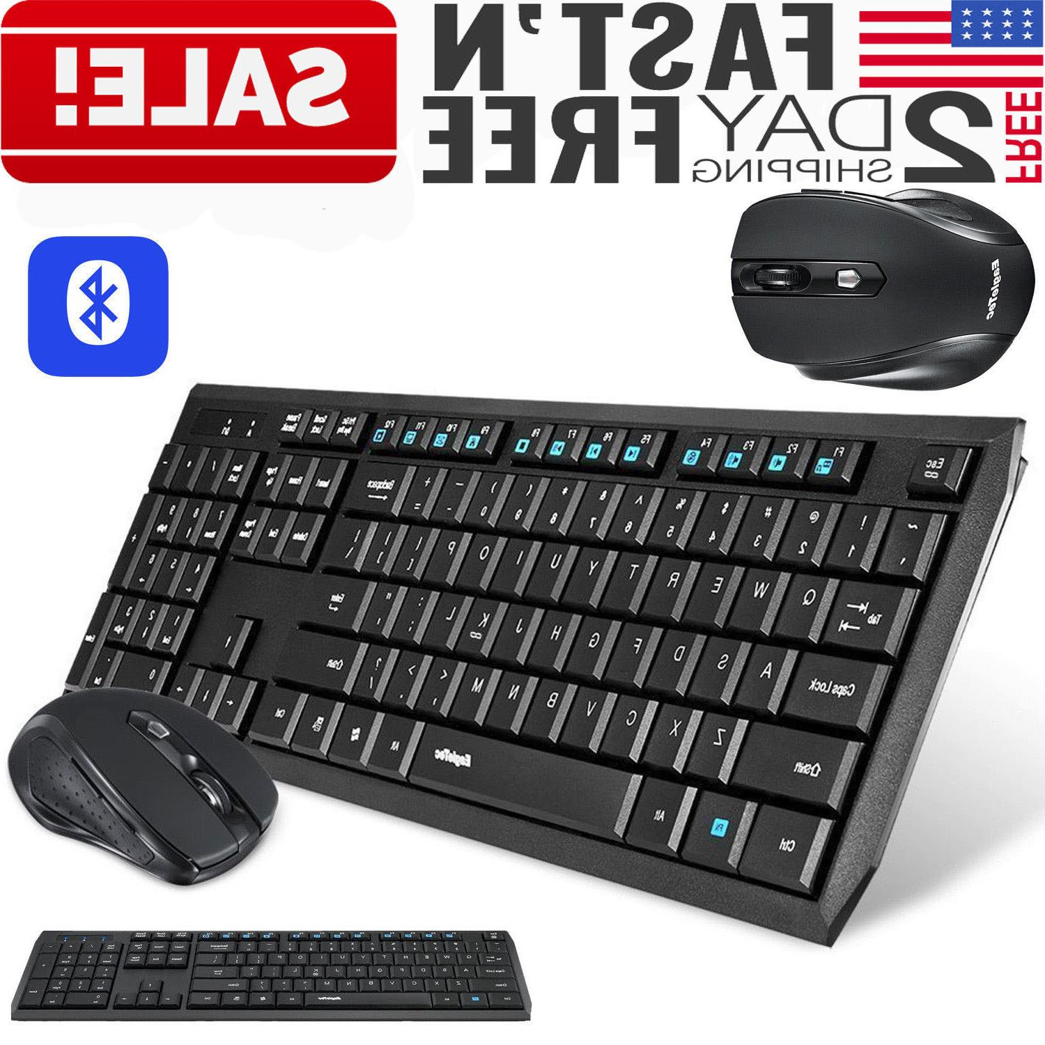 wireless Keyboard and Mouse Combo Bluetooth Computer Desktop
