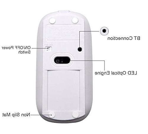 Bluetooth Wireless and Mouse Set - Tsmine Rechargeable Gaming Mouse Mute for MacBook,Notebook,Laptop,PC,Tablet