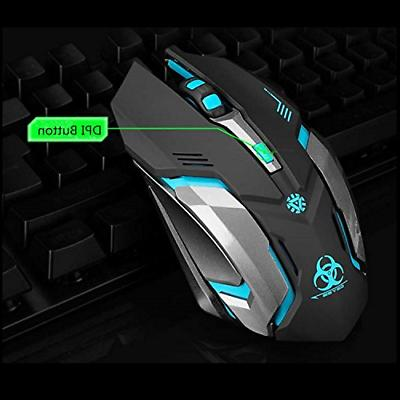Wireless Gaming VEGCOO C8 Click Wireless Rechargeable Mouse with