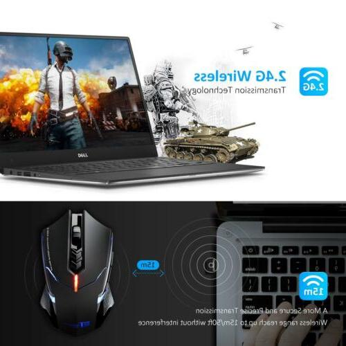Wireless Gaming Unique Silent Click 2400 DPI Laptop