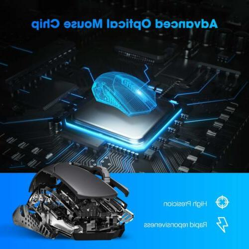 Wireless Mouse Unique Silent Click 2400 DPI for Laptop Mac