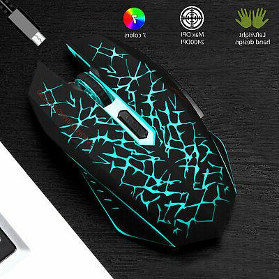 Wireless Mouse Rechargeable Colorful Backlight Mice