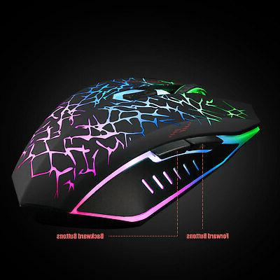 Wireless Rechargeable Colorful Backlight Mice