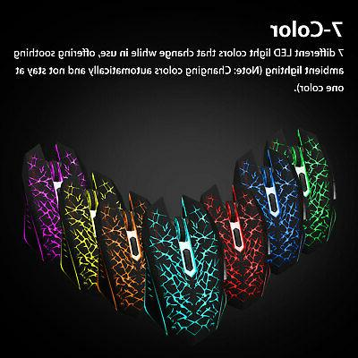 Wireless Gaming Mouse Rechargeable Silent Mice