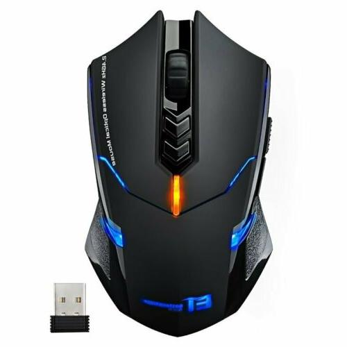 Wireless Gaming Mouse Click 2400 Mice USB for Laptop Mac