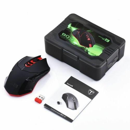 Wireless Gaming Click Optical Mice for Laptop Mac