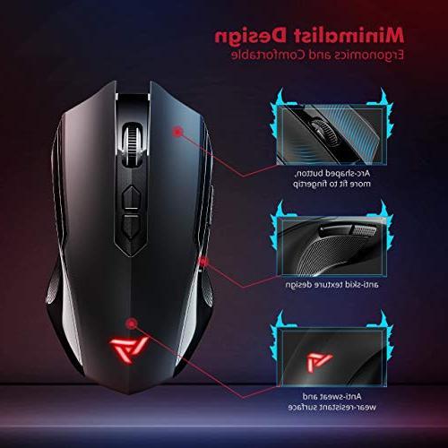 VicTsing Gaming Unique Silent Silent Mouse 2.4GHz Dropout-Free Vista Black