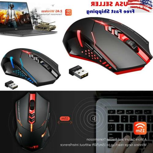 wireless gaming mouse w unique silent click