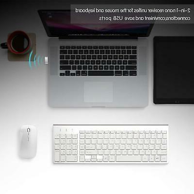 Wireless Bundle Combo Set For Mac Apple 2.4G Slim