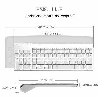 Wireless Keyboard Bundle Combo Set Mac Apple 2.4G