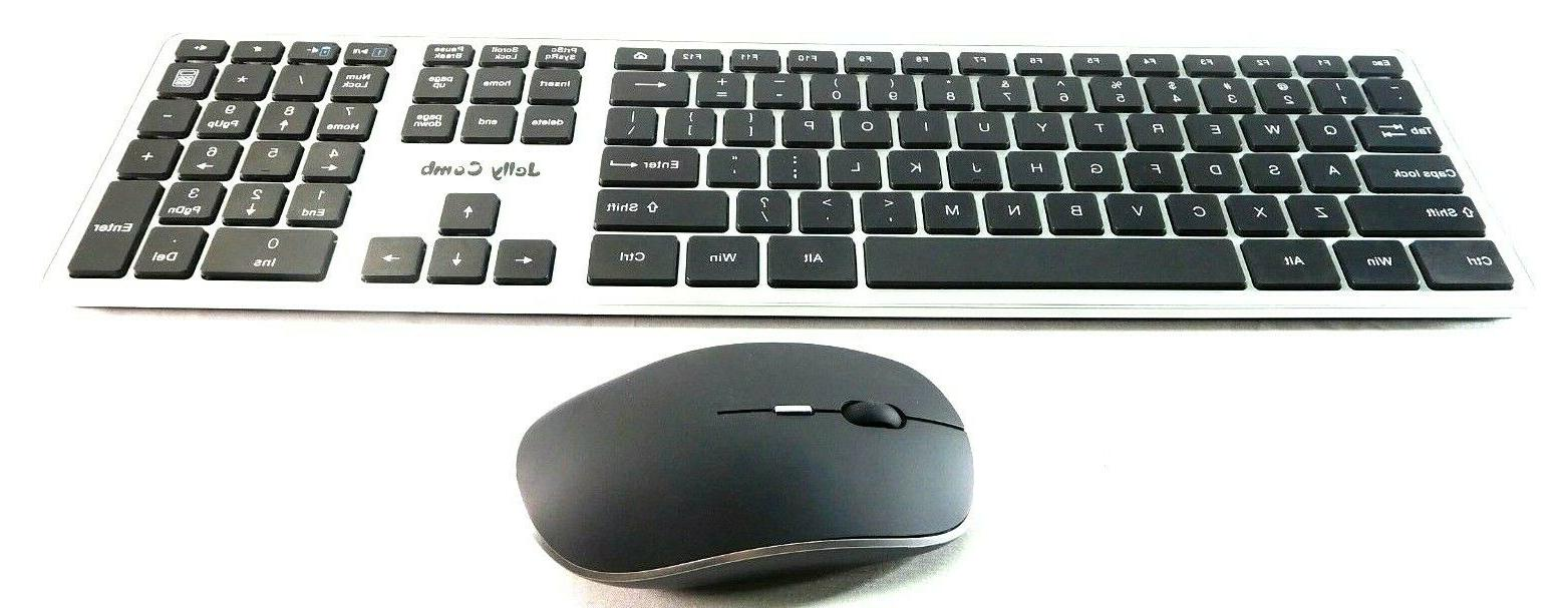 Jelly Comb Wireless Keyboard & Mouse for Windows Laptop Note