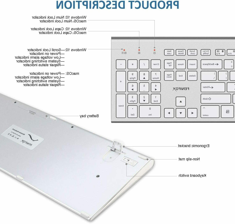 Wireless Keyboard&Mouse,Full-Size Ergonomic for