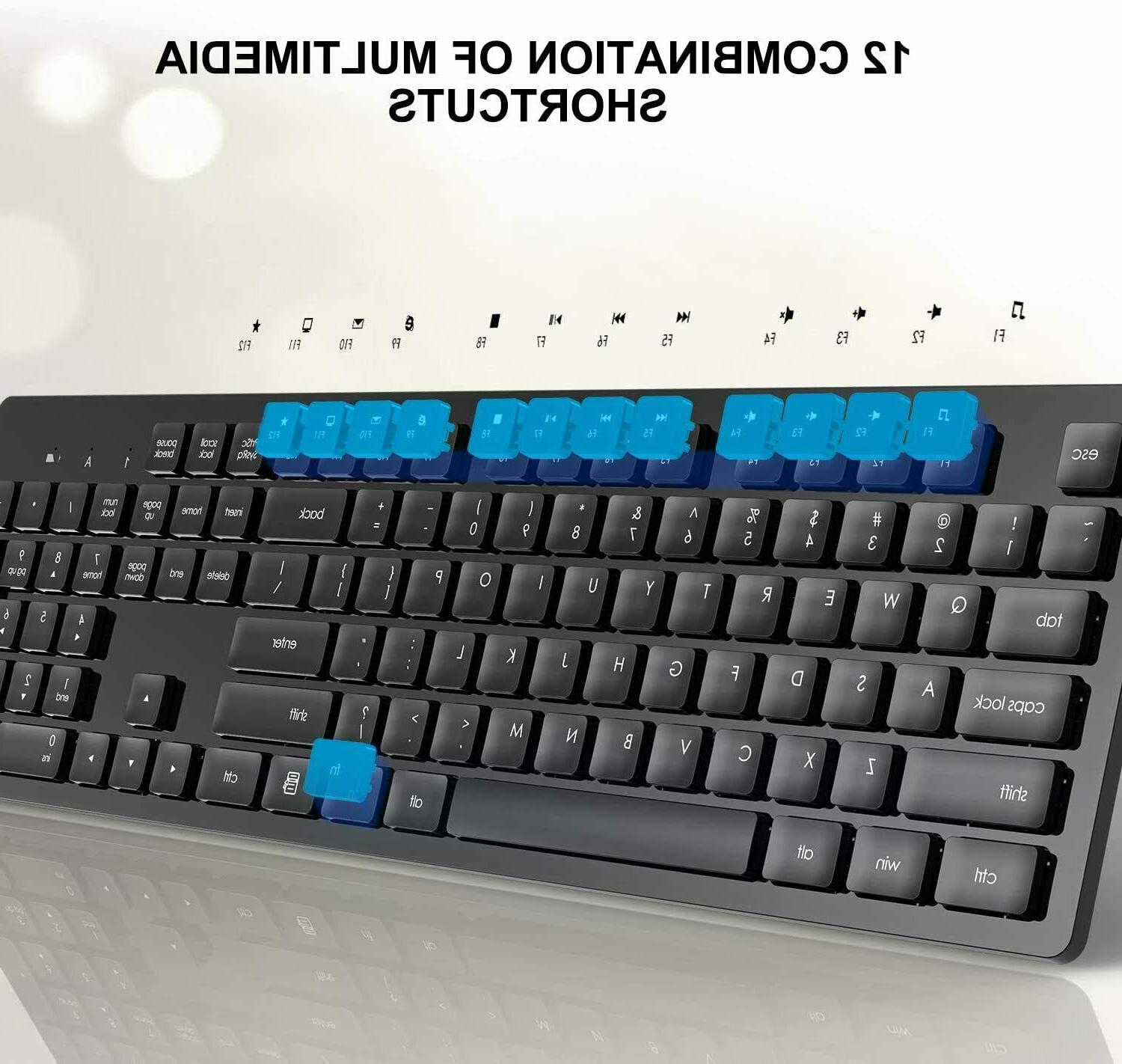 Wireless Mouse, Full-Size Mouse Keyboard