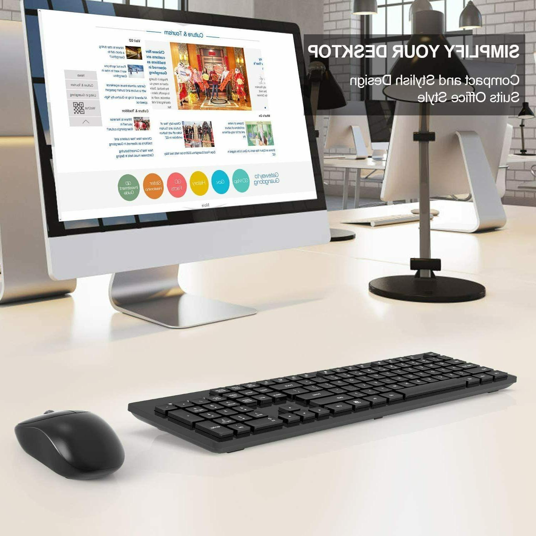 Wireless Full-Size Keyboard Combo,2.4GHz