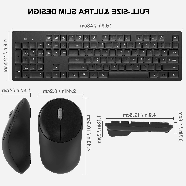 Wireless Mouse, Full-Size Keyboard