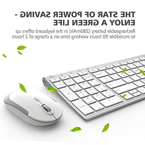 iClever and Mouse 2.4G Wireless Mouse, Thin Connection DPI, and