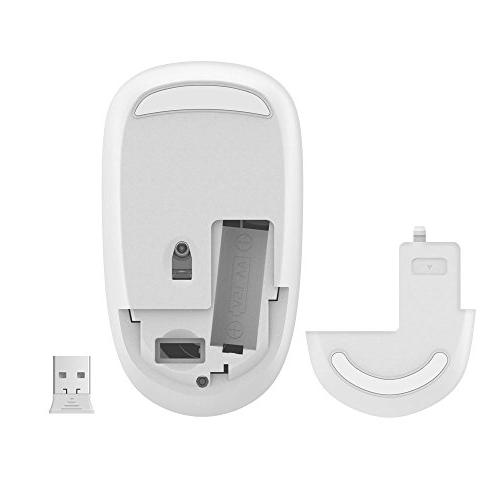 FD Mouse, V8 2.4G Slim Silent Travel Cordless with Receiver for Laptop Chromebook and Notebook