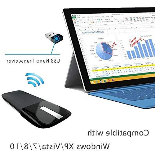 Wireless Receiver Foldable Mouse for Laptop MacBook Surface