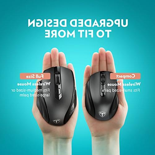 VicTsing Size Mouse USB Receiver, Levels, Notebook, PC, Laptop, MacBook-Black