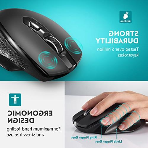 VicTsing Full Mouse with Nano Levels, Buttons Notebook, Laptop, MacBook-Black