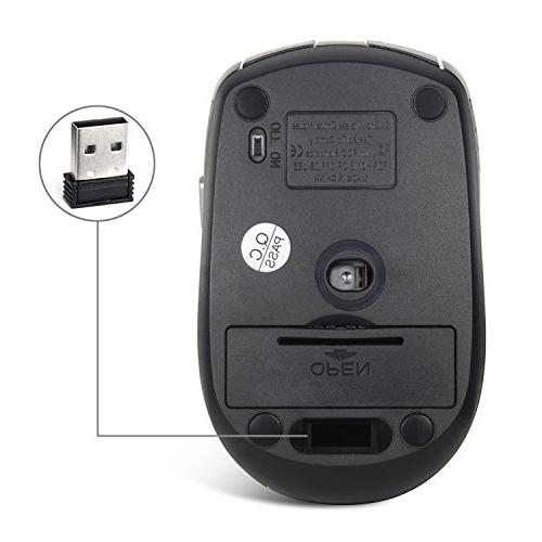 Wireless Mouse, JETech® M0773 2.4Ghz Wireless Mobile Optcal Mouse with 3 Levels, Wireless