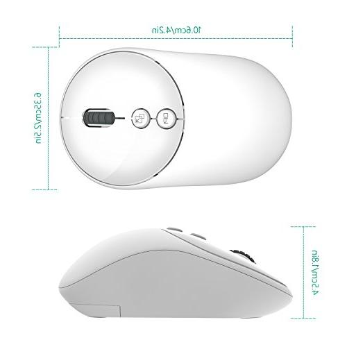 Jelly Comb Wireless Mouse, 2.4G Optical Mice with with Adjustable DPI, 5 for Notebook, Computer,
