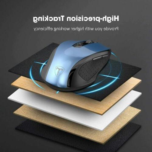Wireless Cordless Mouse Ergonomic USB Receiver for Laptop PC