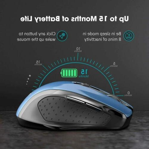 Wireless Mouse Dual Mouse USB Receiver for Laptop PC