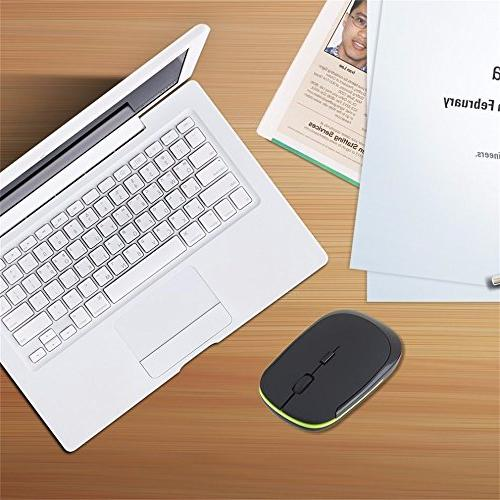 Wireless Mouse, Slim Wireless Mouse Receiver, Less Portable Mobile Mice Notebook, Macbook