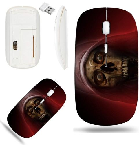 Liili Wireless Mouse White Base Travel 2.4G Wireless Mice wi